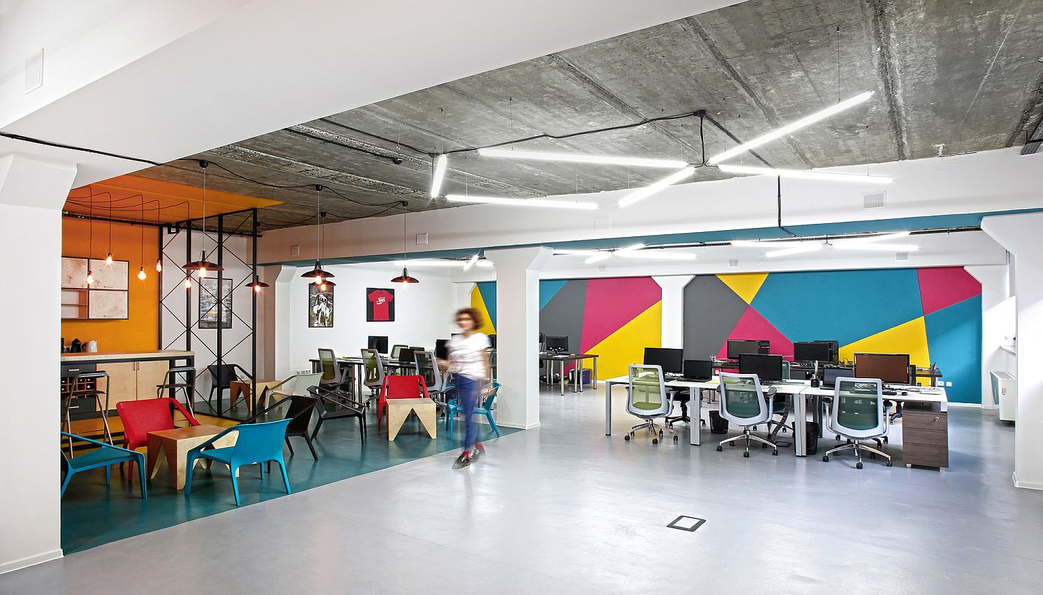 modern office space cool design. The Workplace Is Evolving: Benefits Of The Open Plan Office Design And  Alternative Seating Modern Office Space Cool Design N